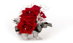 """Red Velvet"" Red Rose Corsage for Prom 