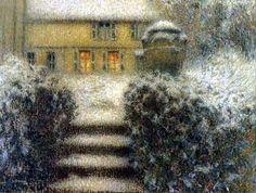 Henri Le Sidaner, The Steps, Gerberoy, 1902, Pastel on canvas, 63.5 x 78.6 cm, Musee de Boulogne-sur-Mer.
