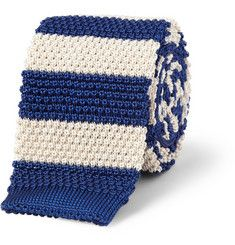 Paul Smith Shoes & AccessoriesStriped Knitted-Silk Tie