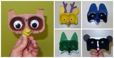 I saw these adorable animal finger puppets made from egg cartons in the April issue of Family Fun . I knew immediately I wanted to make thes...