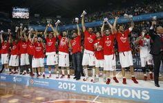 Olympiakos 2012 Euro Champs Euro 2012, Sports Stars, Sports Illustrated, Champs, Basketball Court, Passion, History, Places, Red