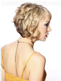 Stacked Curls with Fringe Side View