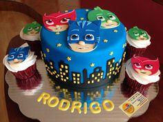 PJ Mask cake and cupcakes
