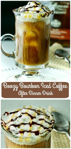 Love having a specialty coffee to end your meal? This Boozy Bourbon Iced Coffee After Dinner Drink is dessert in a glass.