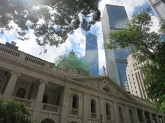 modern buildings surround the old court house in Hong Kong