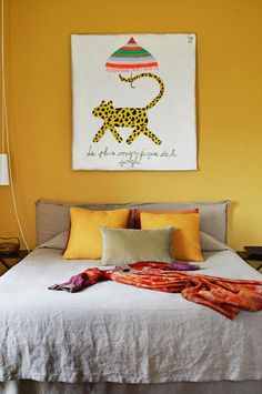 bedroom yellow walls insideout