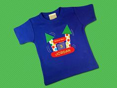 Bounce House with Birthday Number Boy's Top with by SunbeamRoad, $25.00