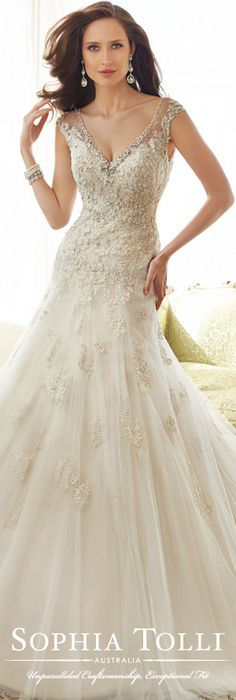 The Sophia Tolli Spring 2015 Wedding Dress Collection - Style No. Y11555 Caracara www.sophiatolli.com #weddingdresses