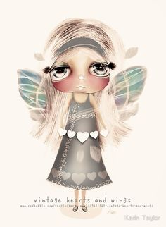 Vintage Hearts and Wings prints and cards by Karin Taylor http://www.redbubble.com/people/karin/works/9611363-vintage-hearts-and-wings FB www.facebook.com/karintaylor.online Web www.redbubble.com/people/karin
