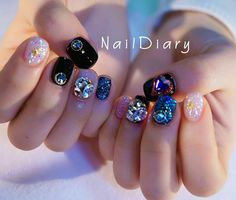 Korean Nails Korean Art Korean Nails Korean Art in 2019 Asian Nail Art, Asian Nails, Korean Nail Art, Korean Nails, Korean Art, Nails Gelish, Nail Manicure, Gel Nails, Japan Nail