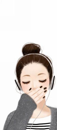 something to draw Cute Love Wallpapers, Cute Girl Wallpaper, Cute Cartoon Wallpapers, Cute Wallpaper Backgrounds, Kawaii Anime Girl, Anime Art Girl, Manga Girl, Anime Girls, Cute Girl Drawing