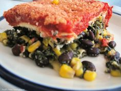 A Mexican Pasta treat. Try Anali's First Amendment: Meatless Monday ~ Burrito Lasagna