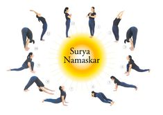 Surya Namaskar Surya is best yoga for fitness. Surya Namaskar is combination of two words, Surya and Namaskar.There are many Benefits of Surya Namaskar. Reduce Thigh Fat, Exercise To Reduce Thighs, Reduce Belly Fat, Lose Belly, Yoga Beginners, Kaizen, 5 Minutes Workout, Yoga Fitness, Easy Yoga Poses