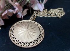 Vintage Signed Emmons Medallion Necklace by MagellansBellyStudio