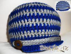 Gorro para niño de un año y medio! Se realizan de cualquier color y de cualquier tamaño! =) #Crochet #Lana #Diseños