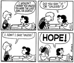 Charles Schulz, 'Peanuts', comic strip Despite Lucy's meanness towards Charlie brown, she always had a soft spot for Schroeder and had no problems professing her affections for him. Despite his...