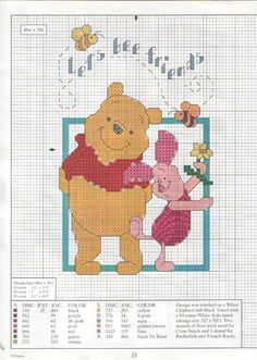 Disney Winnie the pooh and piglet cross stitch card kit craft free UK post