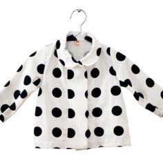 Dark Navy Polk Dots Jacket by suvi ainoa My Little Girl, My Baby Girl, Fashion Moda, Girl Fashion, Little Fashion, Kid Styles, Cute Kids, Kids Outfits, Polka Dots