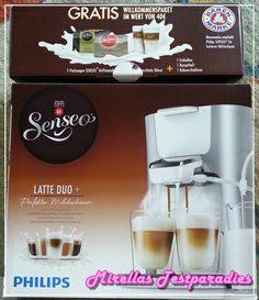 So sah unser Senseo Latte Duo Padmaschine-Testpaket aus.