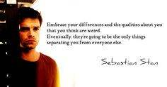 Sebastian Stan Daily, Sebastian Stan epic life quote about embracing who you are.