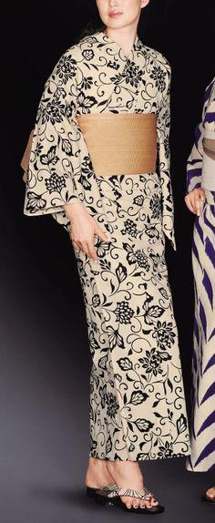 麻と綿の布17027 Yukata Kimono, Kimono Dress, Kimono Top, Kimono Style, Kimono Fashion, Fashion Outfits, Women's Fashion, Japanese Outfits, Japanese Clothing