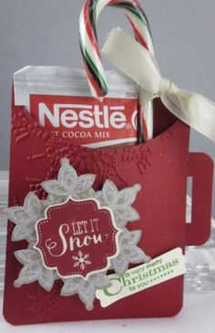 Stampin' Up! Best of Snow Hot Chocolate Pouch!