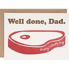 Well Done, Dad.: I used to love swimming in the pool while my dad bbq'd. This would be a great Father's Day card for him.