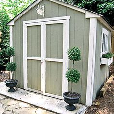 Cut Clutter in Outdoor Storage Sheds with Multiple Storage Solutions