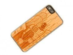 Carved Robot Doom - Cherry Wood iPhone 5 - DaniMobile.com