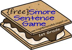 Free Homeschool Printables: Smore Sentence Game