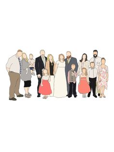 My custom family drawings are definitely one of my most popular products! I always working on a new family- and I LOVE it! I love that I get to know more about you, your story, and create the perfect, geniuine piece for your family.  Family drawings start at just $40 for 2-3 people for JPG/printabl