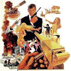 man with the golden gun original poster artwork robert mcginnis james bond Britt Ekland, Robert Mcginnis, Pulp Fiction Art, Pulp Art, Science Fiction, Anime Comics, Serpieri, Fabian Perez, Jack Vettriano