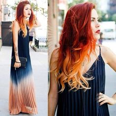Ombre dress with ombre hair to match