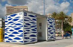HABANA WC-Kiosk for Benidorm beach  | customizable modular kiosk #microarquitectura #kiosk