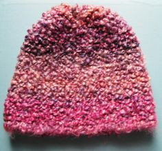 Homespun Thick and Quick Garter Stitch Hat Pattern for the Knifty Knitter Round Loom