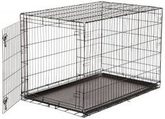 Buy Pet Dog Cat Heavy Duty Folding Metal Crates Cage Kennel Divider Training 48 at online store Xxxl Dog Crate, Extra Large Dog Crate, Single Door Design, Cat Crate, Airline Pet Carrier, Crate Cover, Dog Cages, Buy Pets, Single Doors