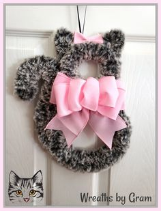 Gray tabby cat; grey kitten; cat dad gifts; cat mom; new kitten gift; new cat owner; veterinarian office decor; veterinarian gifts; crazy cat lady; gift for cat lover; gift ideas for cat lovers; cat home decor; cat wreath; cat themed bedroom; cat time; fur mama; faux fur cat decor; thinking of you gift; cheer up gift; cat memorial gift; thoughtful gift; gift for cat lady; gift from the cat #cattime #tabbycat #catdad #catmom #furmama