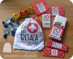 25 Bolsas Kraft Madera Kit De Emergencia Antiresaca Hangover - $ 85,00