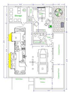 Rv garage home floorplan we love it floorplans for Garage master sf
