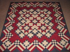 Sawtooth Stars and Bars Quilt