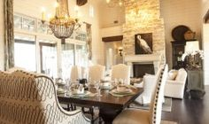 Great room with Living  & Dining Room - Southern Living house on Lake Travis (Austin, TX)