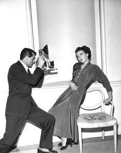 Cary Grant and Paula Raymond