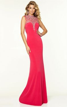 2015 Style Trumpet Mermaid High Neck Floor-length Elastic Woven Satin Prom  Dresses  297548b42bf7