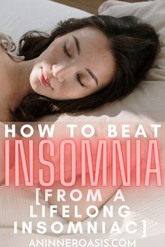 Today I am going to talk about what I personally have done to help my lifelong insomnia. These are some outside-the-box tools that you may not have heard about before that you can begin using tonight. Insomnia is a terrible condition, but it can be overcome if you address the core issues and be consistent with your efforts! | Ways to beat Insomnia | Insomnia remedies | Natural ways to beat Insomnia | Tips to beat insomnia | How to sleep better with anxiety #Insomnia #anxiety via…
