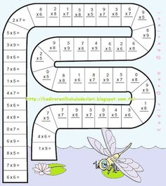 Math snake is a fun way for the students to practice basic math operations. Kids Math Worksheets, Maths Puzzles, Math Activities, Math School, Math Multiplication, Math Help, Basic Math, Homeschool Math, First Grade Math