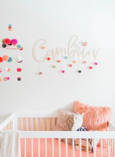 A Colorful Coral Nursery for a Baby Girl - Inspired By This