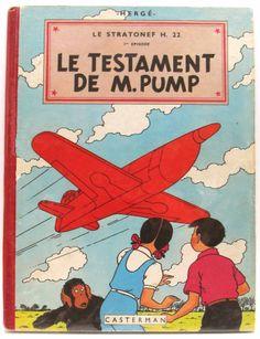 HERGÉ. Album Jo, Zette et Jocko - Le Testament de M. Pump