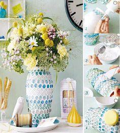 DIY Beautiful Mosaic Vase DIY Beautiful Mosaic Vase