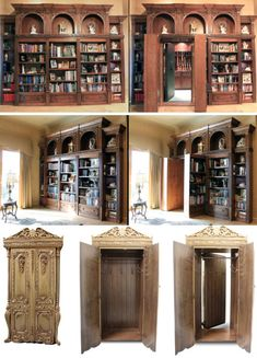 hidden rooms//secret passages. seriously a requirement in my future home. #creativehomeengineering