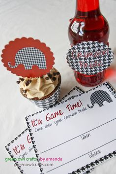 College Football Freebies: Printable Party Packs for various schools! Crimson Tide Football, Alabama Crimson Tide, Alabama Football, Auburn Football, Lsu, Freebies Printable, Printable Party, Free Printables, Alabama Crafts
